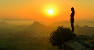 Gril mountain sunrise Places in IndiaIndia