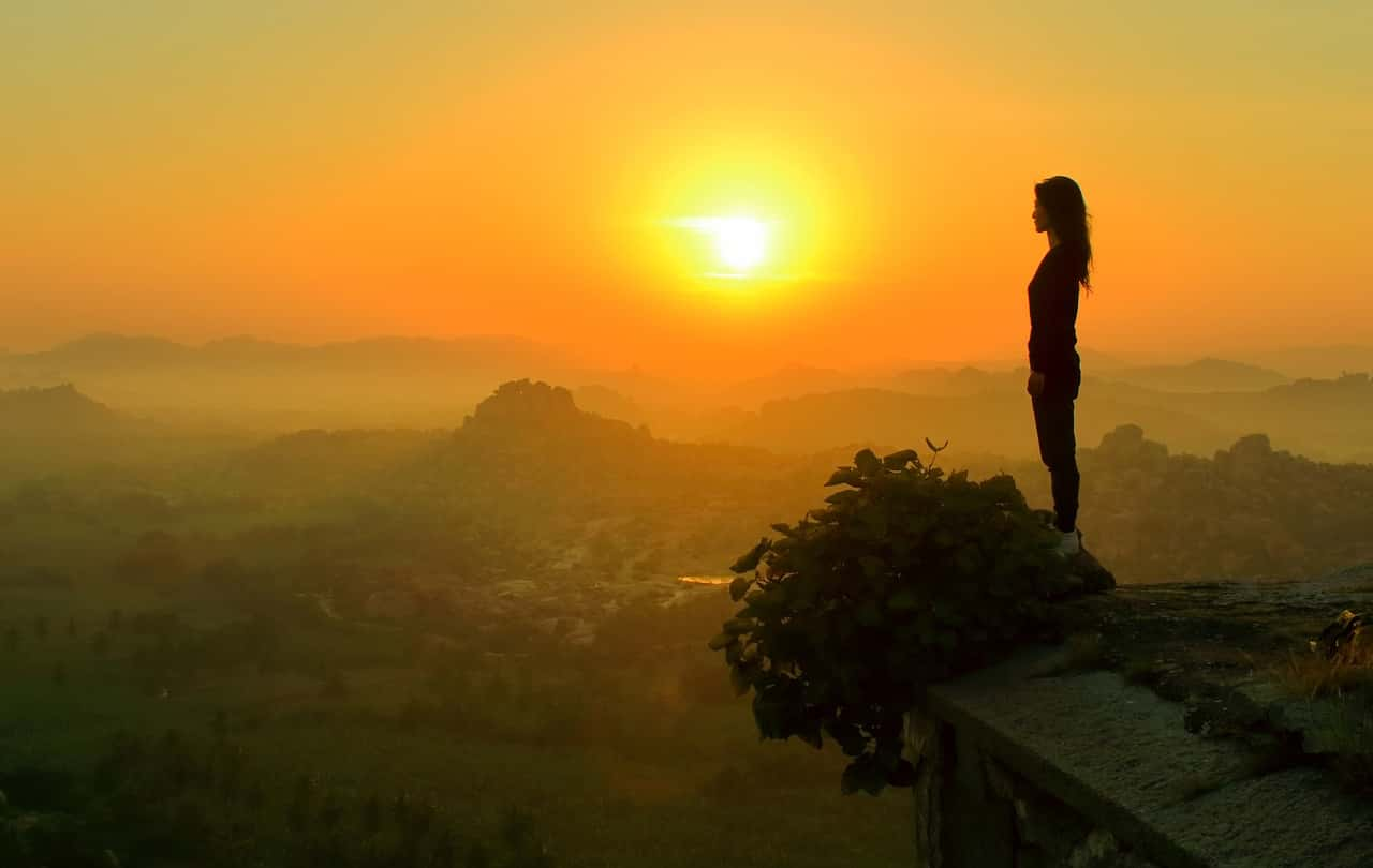 Gril mountain sunrise Places in IndiaIndia