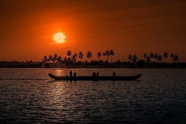 Sunset-Alappuzha-Kerala-Places in India
