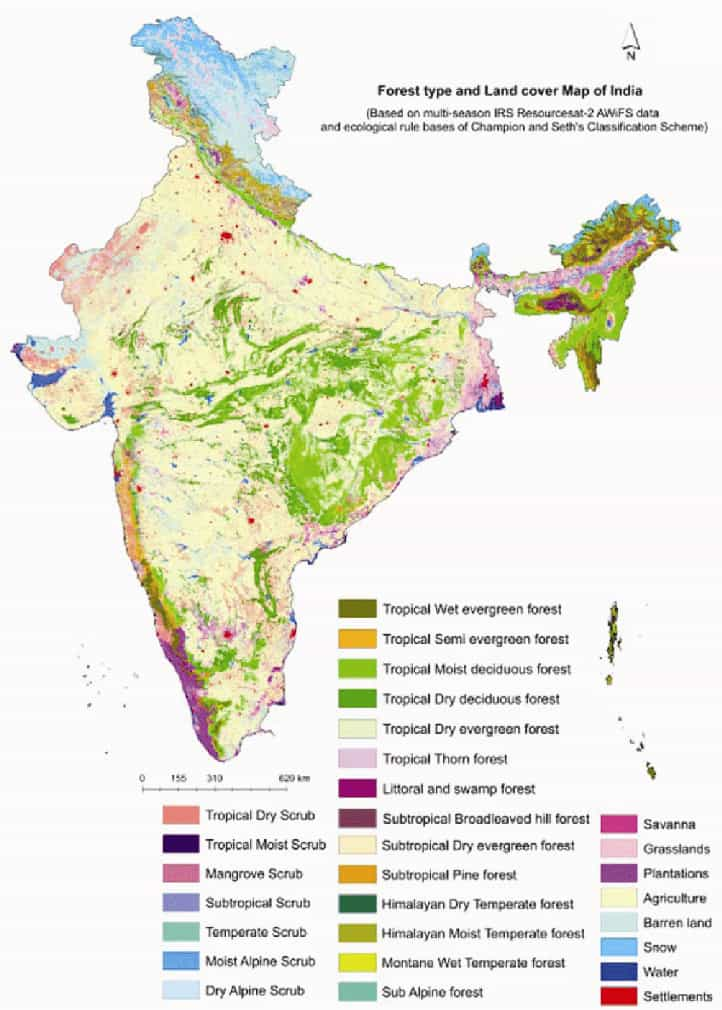 Names of the forests in India
