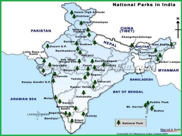 names-of-Forests-in-India-map